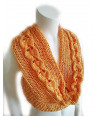 PDF Pattern Scarf/Shawi/Cowl Pleats Hand-knit